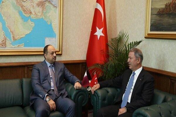 دیدار وزرای دفاع ترکیه و قطر در آنکارا